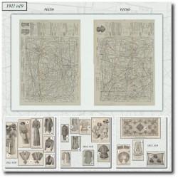 Sewing patterns La Mode Illustrée 1911 N°19