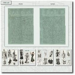 Patrons de La Mode Illustrée 1900 N°46
