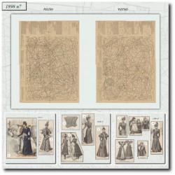 Patrons de La Mode Illustrée 1898 N°07