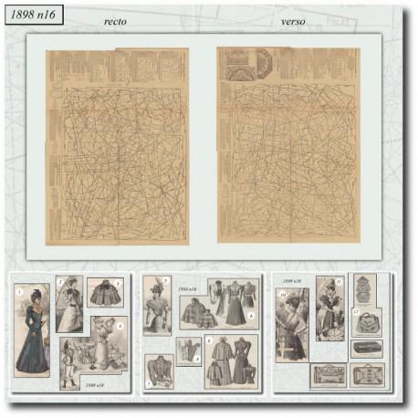 Sewing patterns La Mode Illustrée 1898 N°16