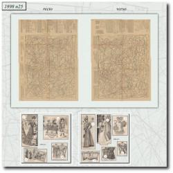 Patrons de La Mode Illustrée 1898 N°25