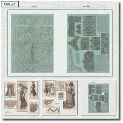 Sewing patterns La Mode Illustrée 1901 N°02