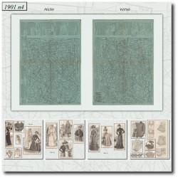 vykrojku La Mode Illustrée 1901 N°04