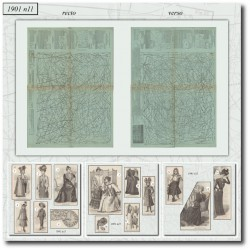 vykrojku La Mode Illustrée 1901 N°11