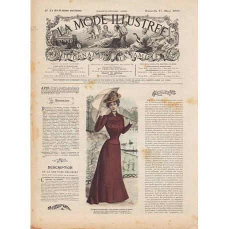 Complete magazine La Mode Illustrée 1901 N°11