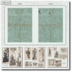 vykrojku La Mode Illustrée 1901 N°15