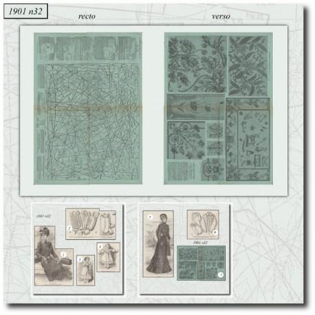 Sewing patterns La Mode Illustrée 1901 N°32