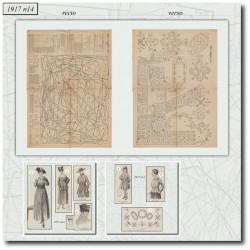 Sewing patterns dress 1917 N°14