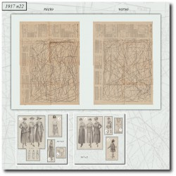 Digital sewing patterns corset 1917 N°22