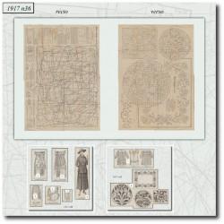Sewing patterns La Mode Illustrée 1917 N°36