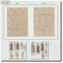 Patrons robe manteau 1917 N°38