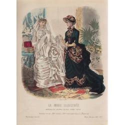 Gravure de La Mode Illustrée 1883 03
