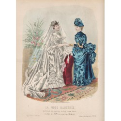 Gravure de La Mode Illustrée 1884 36