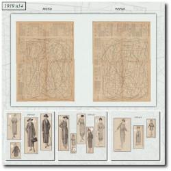 Patrons de La Mode Illustrée 1919 N°14