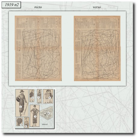 Sewing patterns La Mode Illustrée 1919 N°02