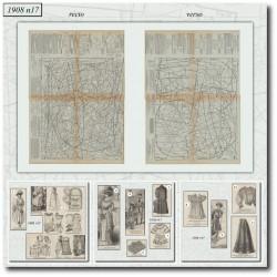 Sewing patterns La Mode Illustrée 1908 N°17