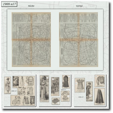 Patrons de La Mode Illustrée 1908 N°17