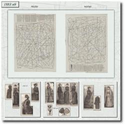 Patrons de La Mode Illustrée 1883 N°09
