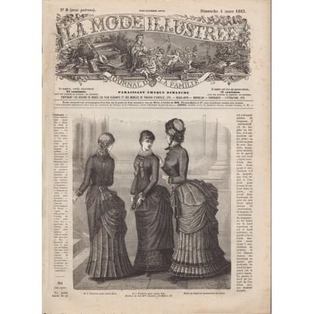 Complete magazine La Mode Illustrée 1883 N°09