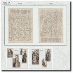 Sewing patterns La Mode Illustrée 1883 N°01