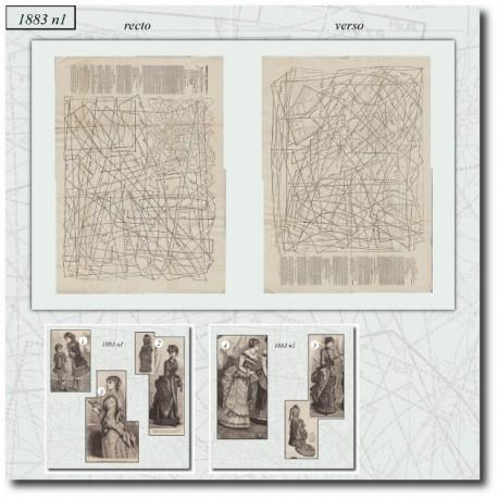 Patrons de La Mode Illustrée 1883 N°01