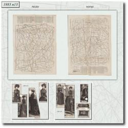 Patrons de La Mode Illustrée 1883 N°13