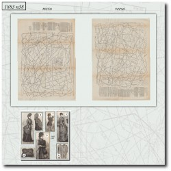 Sewing patterns La Mode Illustrée 1883 N°38