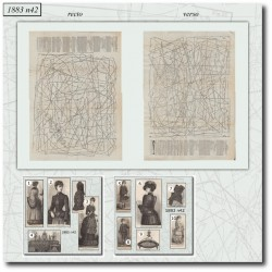 Sewing patterns La Mode Illustrée 1883 N°42