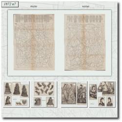 Sewing patterns victorian bride dress 1872 N°7