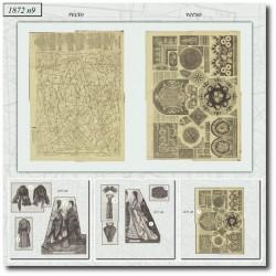 Patrons de La Mode Illustrée 1872 N°9