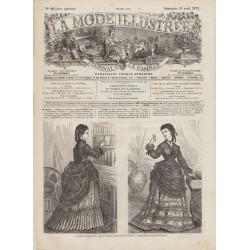 Revue complète de La Mode Illustrée 1872 N°16