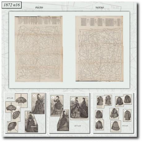 Sewing patterns ombrella dress coat 1872 N°16