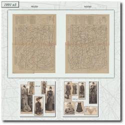 Patrons de La Mode Illustrée 1891 N°03