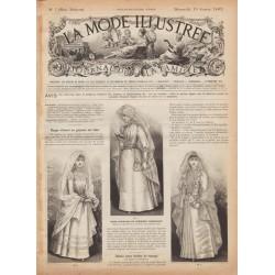 Complete magazine La Mode Illustrée 1891 N°07