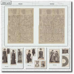 Patrons de La Mode Illustrée 1891 N°16
