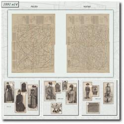 Patrons de La Mode Illustrée 1891 N°14