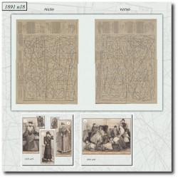 Patrons de La Mode Illustrée 1891 N°18