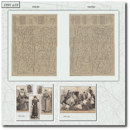 Sewing patterns La Mode Illustrée 1891 N°18