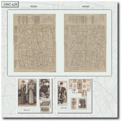 Patrons de La Mode Illustrée 1891 N°20