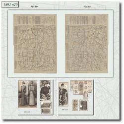 Sewing patterns La Mode Illustrée 1891 N°20