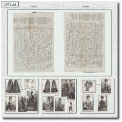 Patrons de La Mode Illustrée 1874 N°03