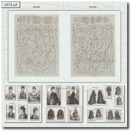 Sewing patterns La Mode Illustrée 1874 N°05