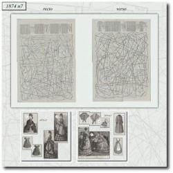 Patrons de La Mode Illustrée 1874 N°07