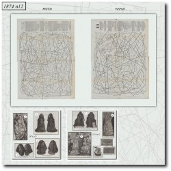 Sewing patterns La Mode Illustrée 1874 N°12