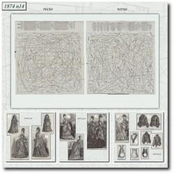 Patrons de La Mode Illustrée 1874 N°14