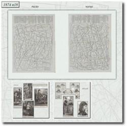 Sewing patterns La Mode Illustrée 1874 N°18