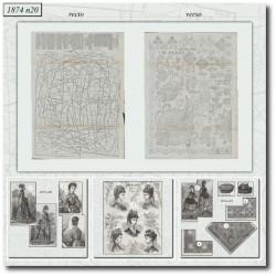 Patrons de La Mode Illustrée 1874 N°20