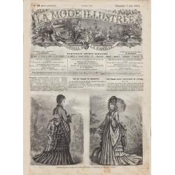 Complete magazine La Mode Illustrée 1874 N°23