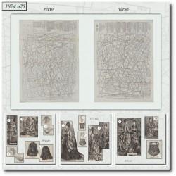 Patrons de La Mode Illustrée 1874 N°25
