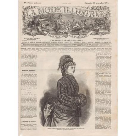 Complete magazine La Mode Illustrée 1874 N°47